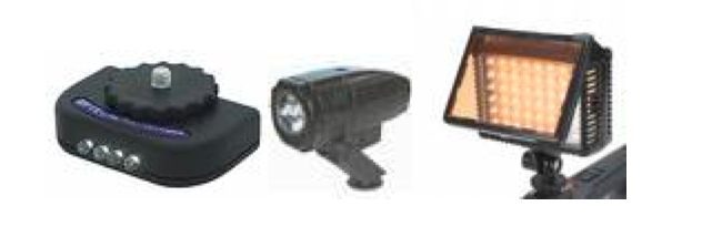 LED on-camera lights