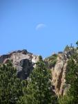 Setting moon along Hiway 108