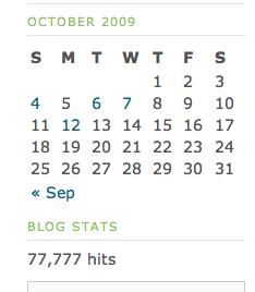 10/15/09 - 77,777