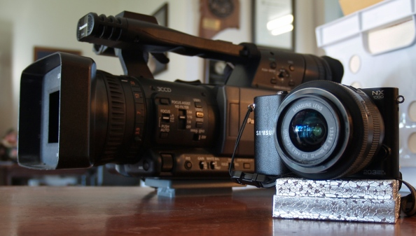 Panasonic AG-HMC150 and Samsung NX-1000